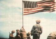Iwo Jima flag raising, by Bill Genaust