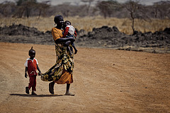 Women and children leave Abyei by ENOUGH Project