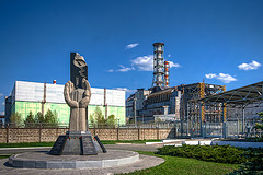 Chernobyl Monument and Reactor (Explore #185) by Roads Less Traveled Photography