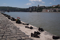 Shoes on the Danube by skittledog