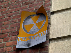Nuclear Fallout Shelter Sign by Phil LaCombe