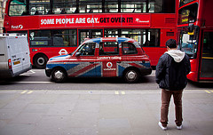 """Some People Are Gay. Get Over It"" Double Decker Bus Ad - London, UK by ChrisGoldNY"