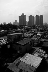 shanties vs buildings by chantaleco