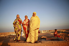 Saharawi Refugees at Sunset by United Nations Photo