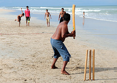 Beach cricket, Nilaveli, Sri Lanka by james_gordon_losangeles