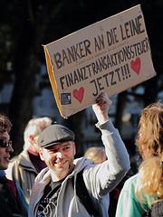 Banker an die Leine - OccupyHannover by ohallmann
