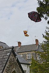 St Cadoc's Teddy Bear Parachute Jump by e_cathedra