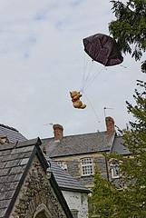 St Cadoc's Teddy Bear Parachute Jump by e_cathedra