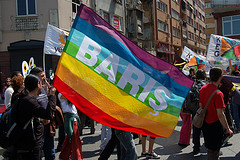 Rainbow peace flag by anirvan