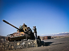 Even Afghans Take Tourist Photos by Tanks by peretzp