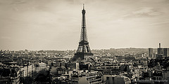 Eiffel Tower from Arc de Triomphe by PaulSchliebs
