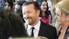 Ricky Gervais & girl friend Jane Fallon by Kempton