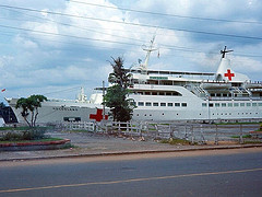 Saigon 1967 - The German Hospital ship Helgoland ~ similar to America's Project Hope. by manhhai