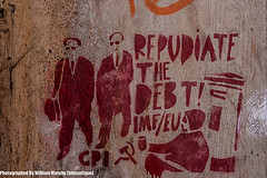 Street Art Protesting Against IMF/EU Debt by William Murphy