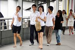 Kasetsart University Students @ Union Mall Bangkok by Ian Fuller