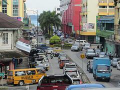 Entering Downtown Lahad Datu by thienzieyung