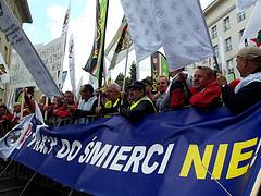Demonstracja OPZZ przeciwko ustawie emrytalnej by Piotr Drabik