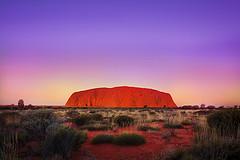 'Blazin' Orange', Australia, Northern Territory, Alice Springs, Uluru-Katja Tjuta National Park, Ayers Rock by WanderingtheWorld (www.LostManProject.com)
