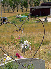 cutlery as windchime--wounded knee cemetery by egyptspice