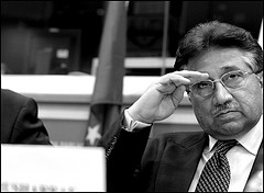 Pakistan's former President Pervez Musharraf at the EP by European Parliament
