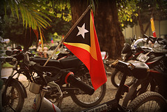 The Timor-Leste flag by Jaya Ramchandani
