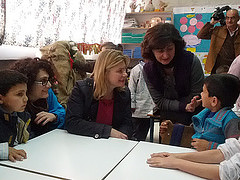 Justine Greening meets schoolchildren in Lebanon's Bekaa Valley by DFID - UK Department for International Development
