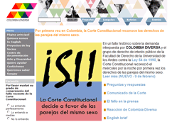Colombia Diversa webpage