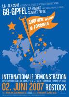 反G8デモのポスター