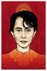 Aung San Suu Kyi by (M.E) Morgan