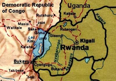 コンゴ東部地図