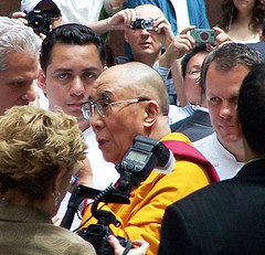 Dalai Lama in NYC by Ove Overmyer