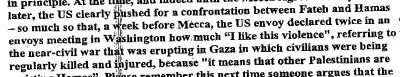 passage from the confidential UN report on Palestine