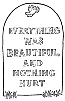 Slaughterhouse-Five illustration: Everything was beautiful, and nothing hurt