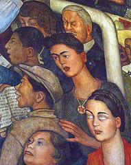 México a Través de los Siglios (Detail - Frida Kahlo), 1929-35 by saturdave