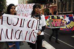 Fujimori nunca más. Carteles creativos fueron mostrados por los jóvenes del Perú. by elhombredelotrodia