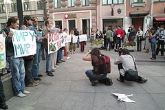 サンクトペテルブルクのデモ