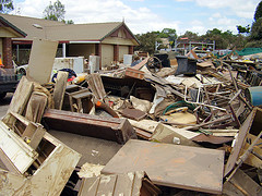 Flood rubbish by David Busch Aus