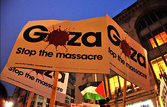 Gaza banner, by nagillum