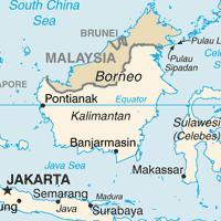 カリマンタン島地図