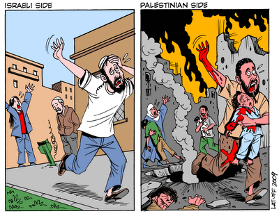 Both Sides of Gaza Conflict, by Carlos Latuff