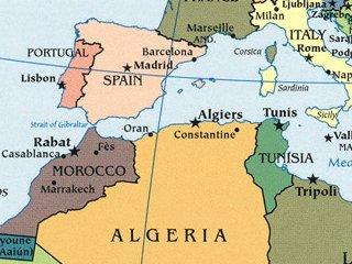 北アフリカ地図