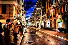 e già natale in via Roma. Genova - Italy  by unita36