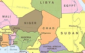 ニジェール周辺の地図