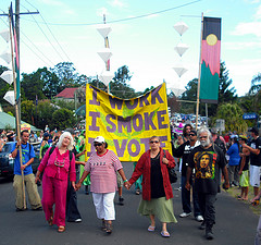 i work i smoke i vote, by nimbin mardi grass 2009