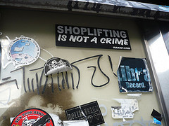 Shoplifting is not a crime.