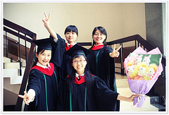 After the graduation ceremony on June 30, 2009, in Sun Yat-sen University, by 王小常