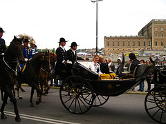 Stockholm, Princesses Victoria and Madeleine and Prince Carl Philip by Dirk Hartung