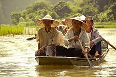 Straw Boat Vietnam by Espen Faugstad