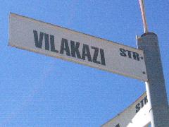 Vilakazi street sign