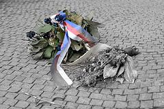 Memorial to Jan Palach and Jan Zajic II., by Lukas Kolisko